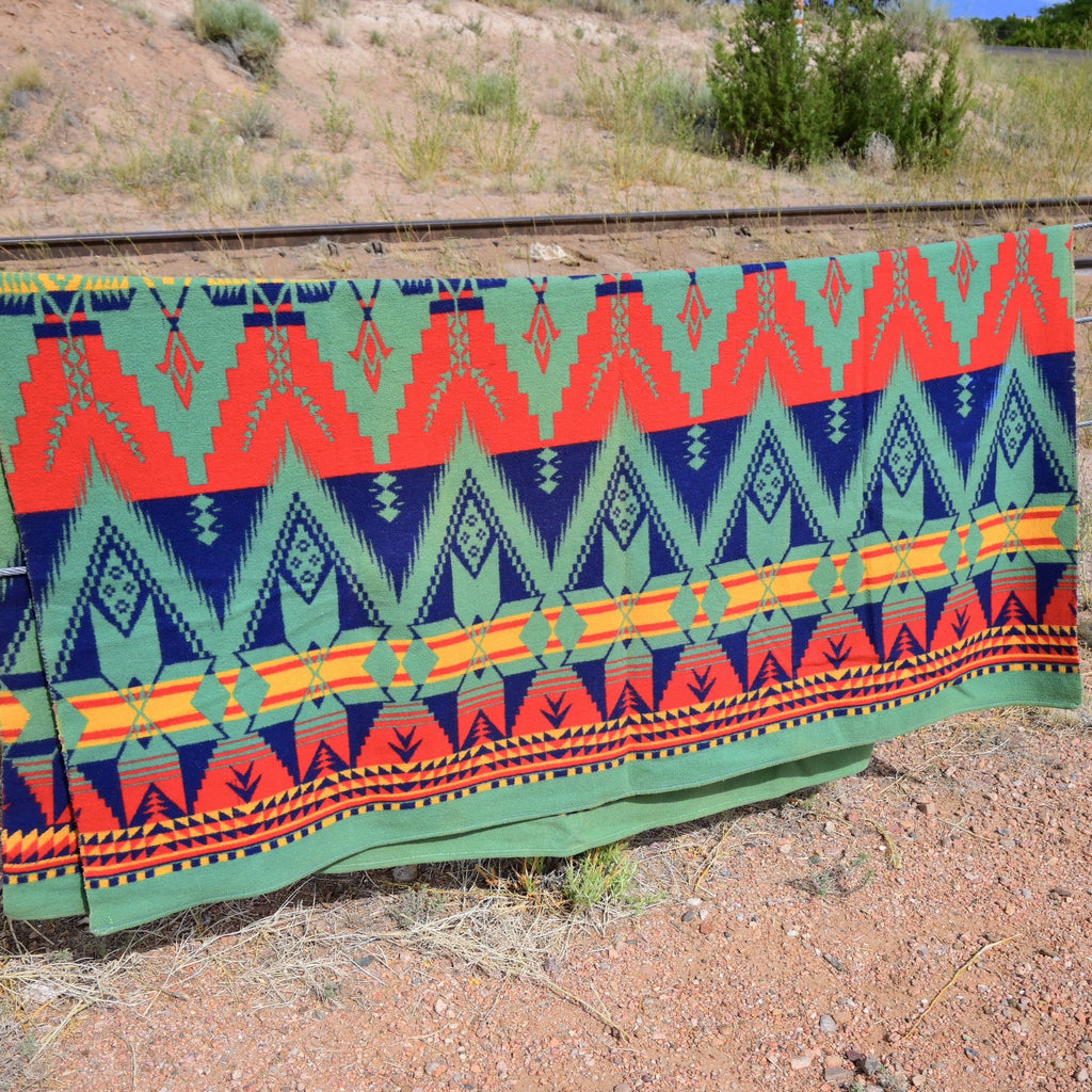Camp Blanket Beacon Huron Design red, green & blue