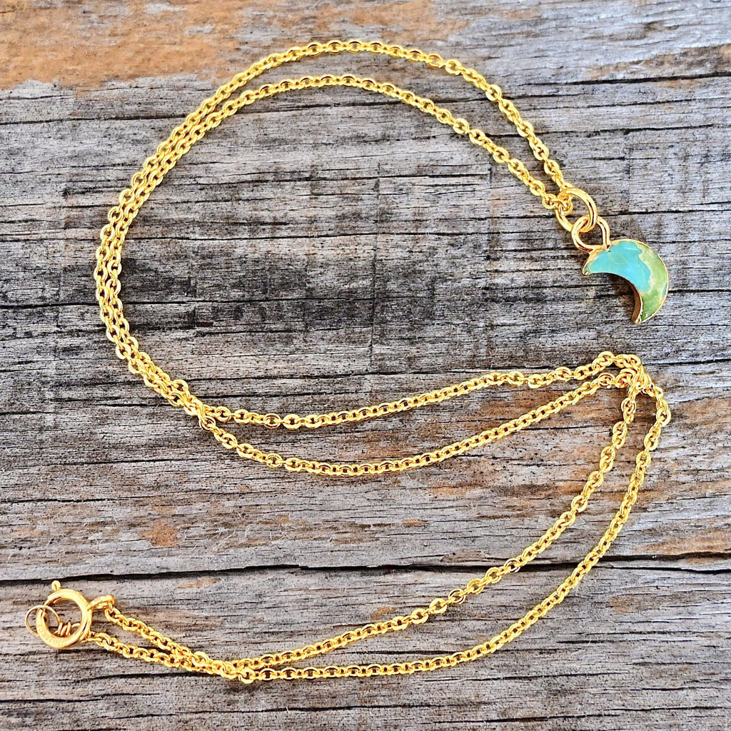 Southwest Turquoise Moon Necklace