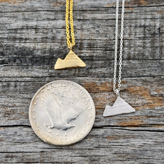 Gold Silver Mountain Charm Necklace