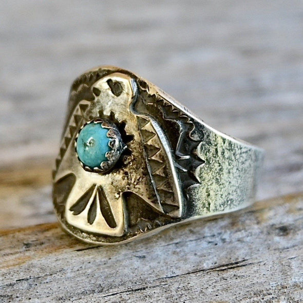 Fred Harvey Era Ring Silver & Turquoise