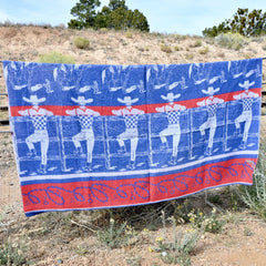 Vintage Texas Ranch Camp Blanket