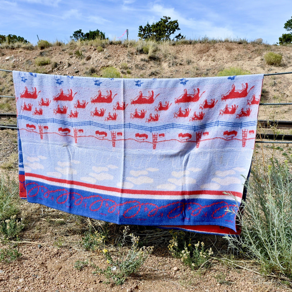 Cowboy Ranch Camp Blanket