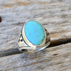 Navajo Vintage Turquoise Sterling Ring