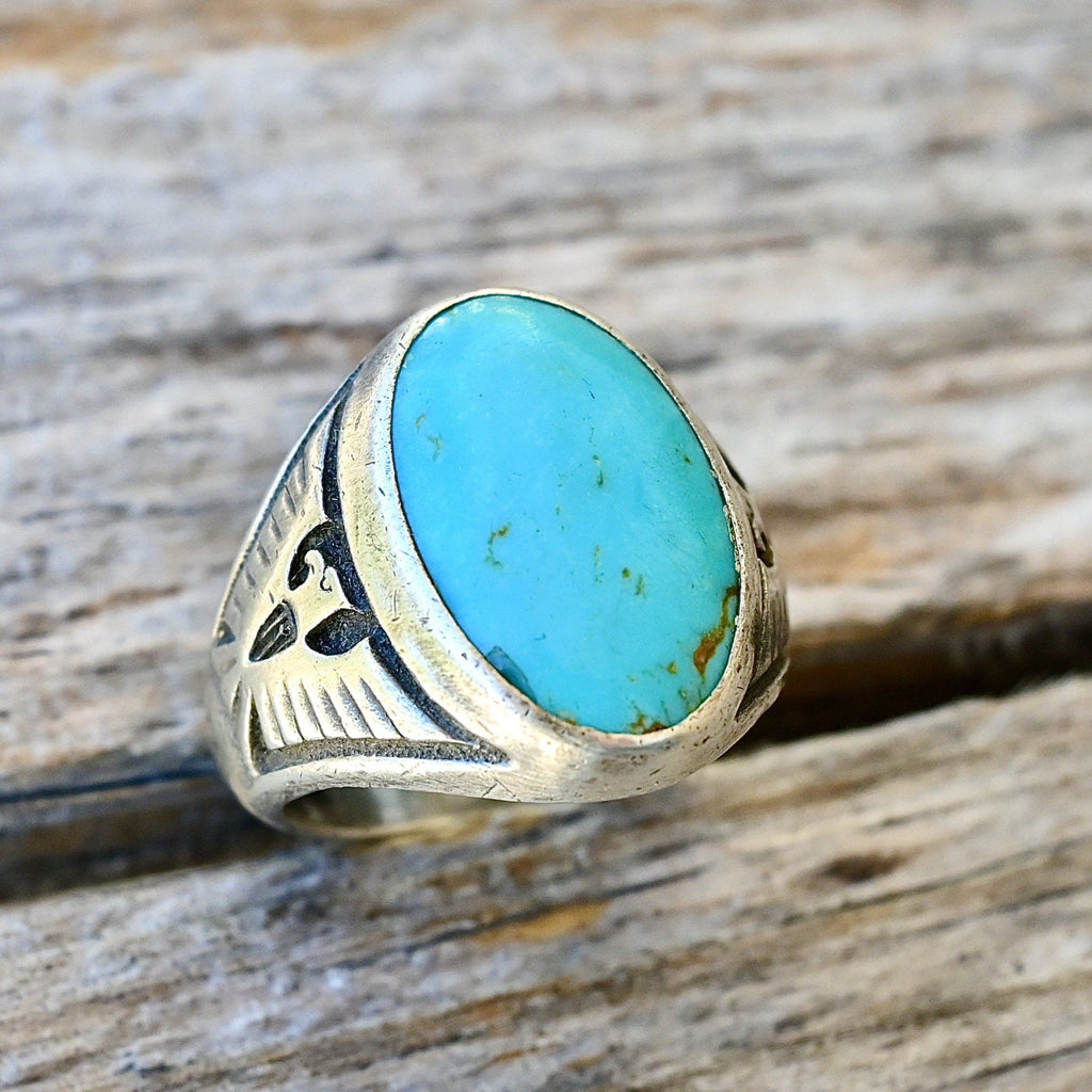 Mens Navajo Turquoise Ring