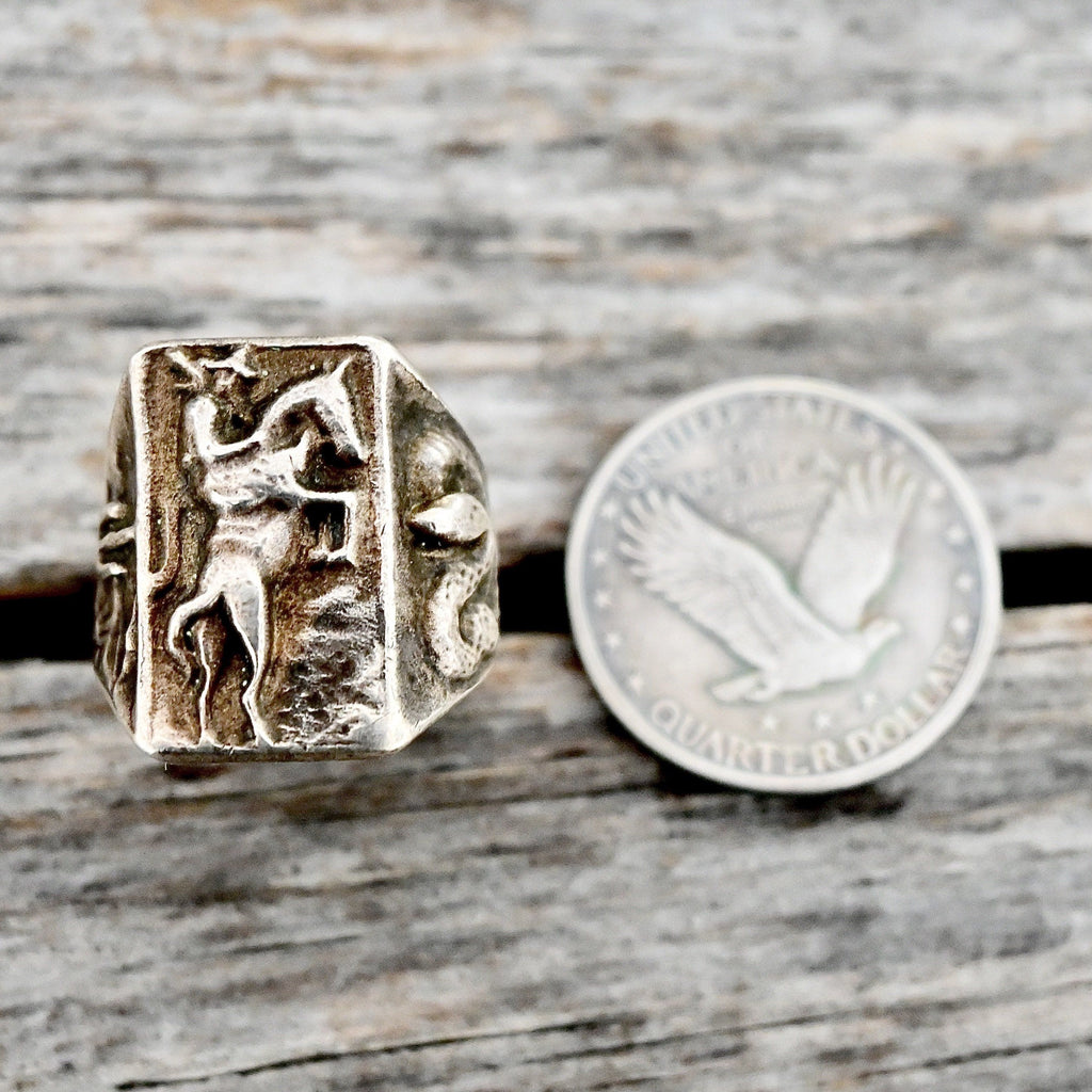 Old Cowboy Sterling Ring