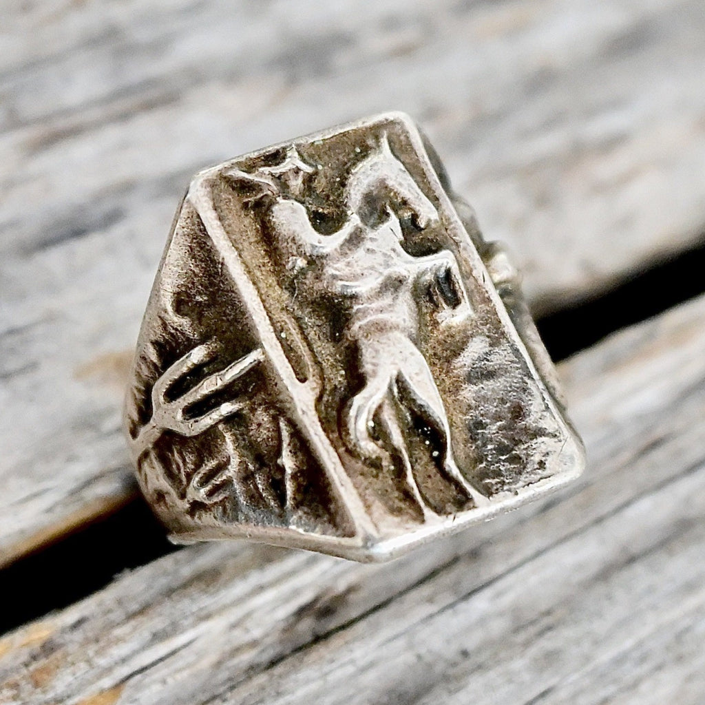 1940's Cowboy Sterling Ring