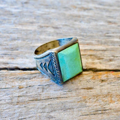 Size 11 Bell Trading Post Turquoise Ring