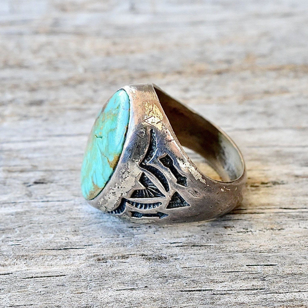 Vintage Turquoise Trading Post Ring