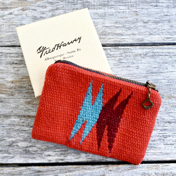 Chimayo Red Zipper Pouch Fred Harvey Company