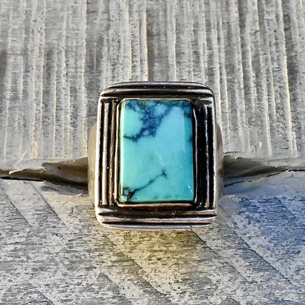 Art Deco Style Turquoise Ring