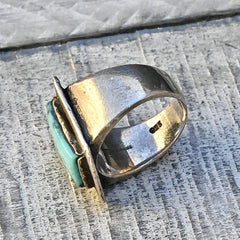 925 Hallmark on Turquoise Ring