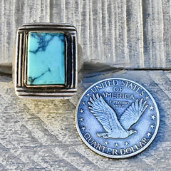 Turquoise Art Deco Woman's Ring