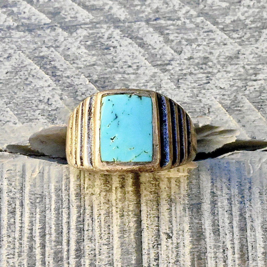 Vintage Sleeping Beauty Turquoise Ring
