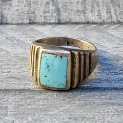 Art Deco Sleeping Beauty Turquoise Ring