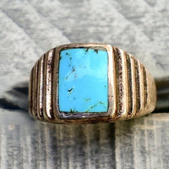 Sleeping Beauty Turquoise Deco Ring