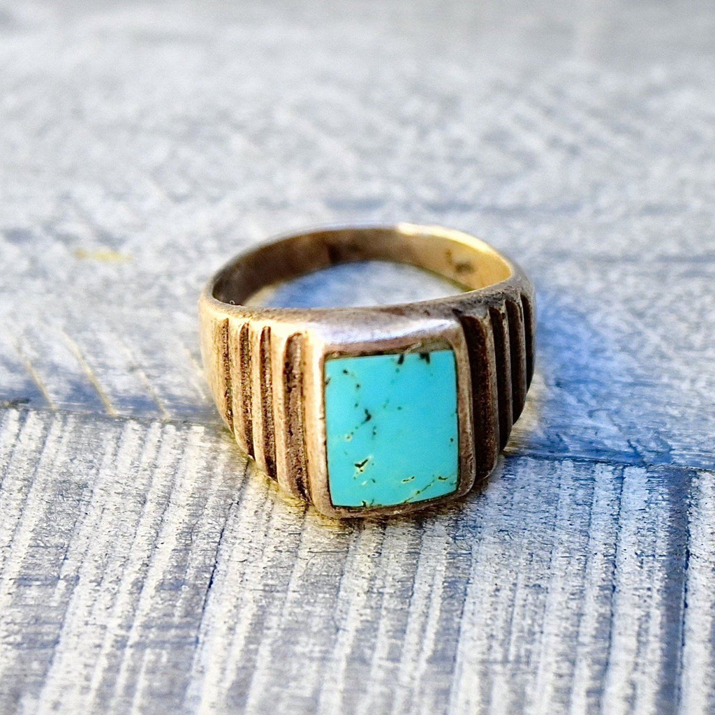 Deco Turquoise Ring