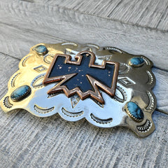 Bell Trading Post Thunderbird Belt Buckle