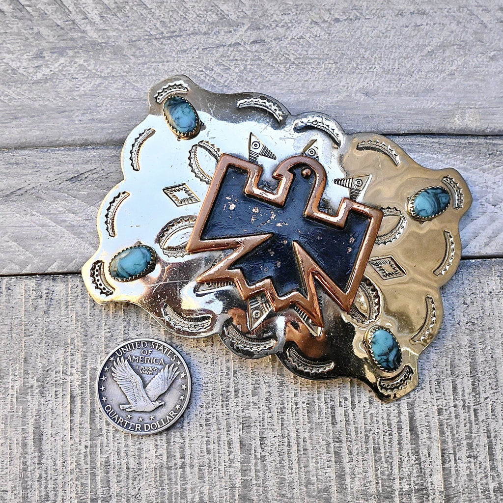 Bell Trading Post Thunderbird Buckle