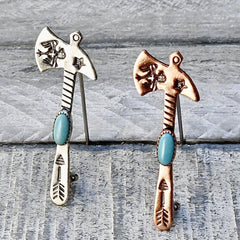 Old Bell Tomahawk Pins Sterling & Copper