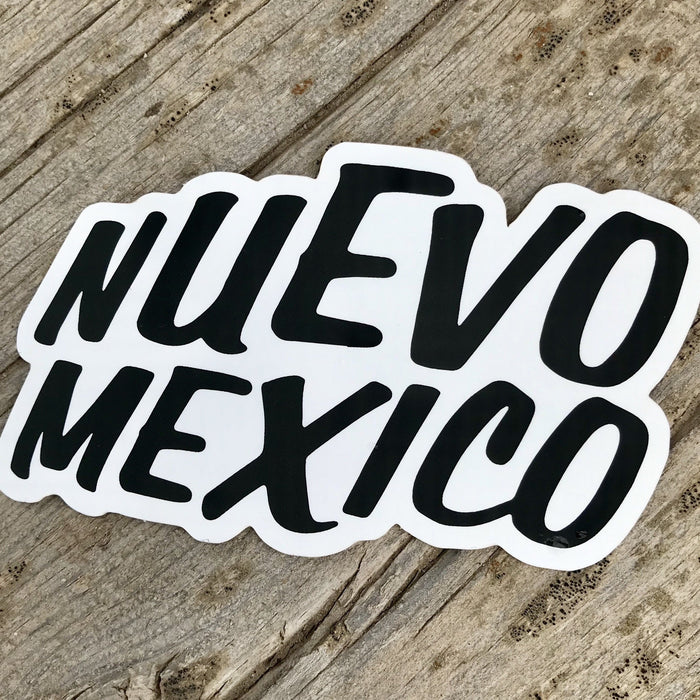 Nuevo New Mexico Sticker Black & White