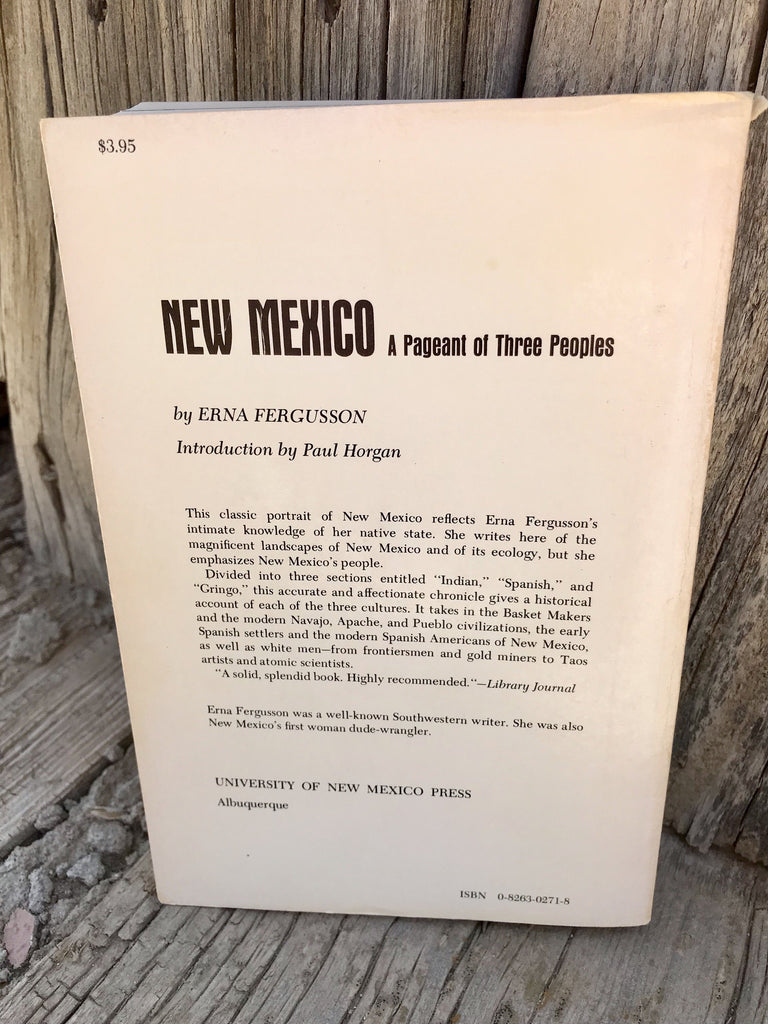New Mexico A Pageant of Three People Book