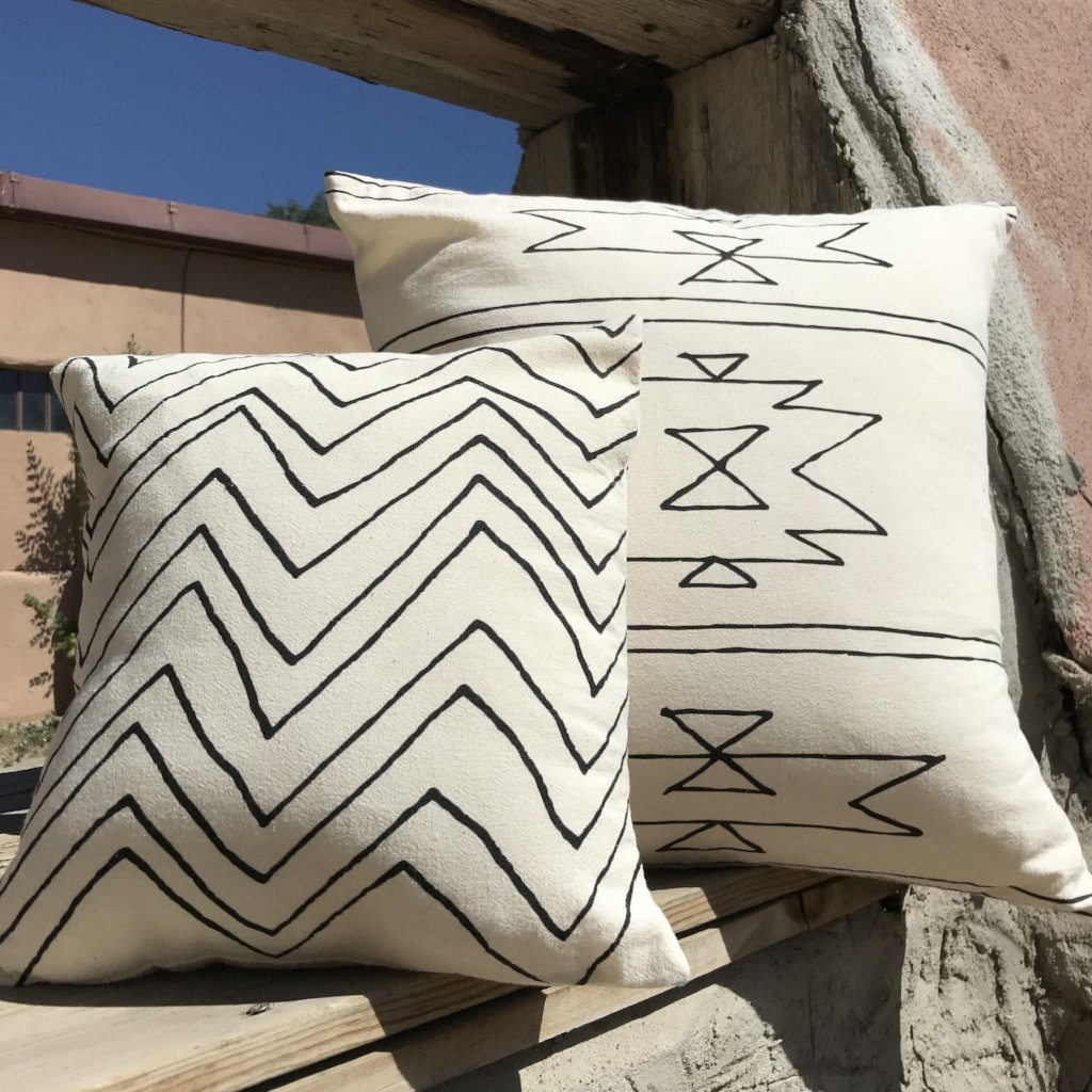 Organic Cotton Pillow New Mexico Pattern