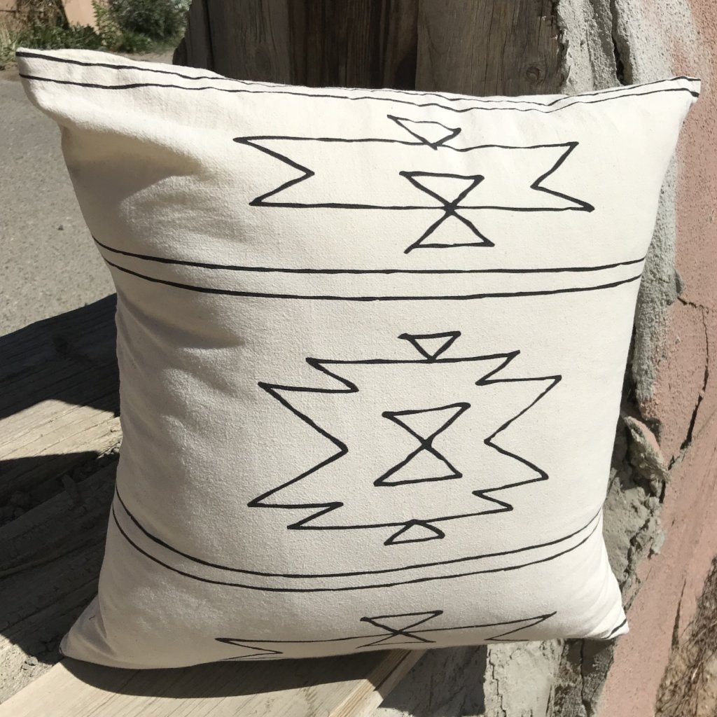 Organic Cotton Pillow - New Mexico Pattern