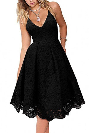 Black Sexy Lace Cocktail Dress