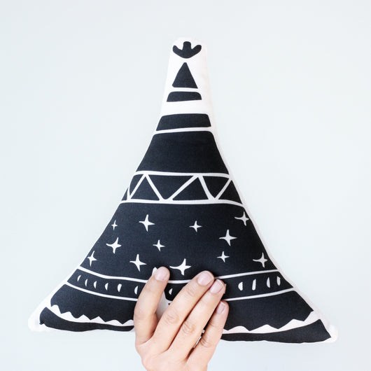 Black teepee pillow
