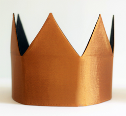 Dress-Up Playtime Fabric Crown - Copper
