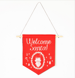 Banner - Welcome Santa Christmas Holiday