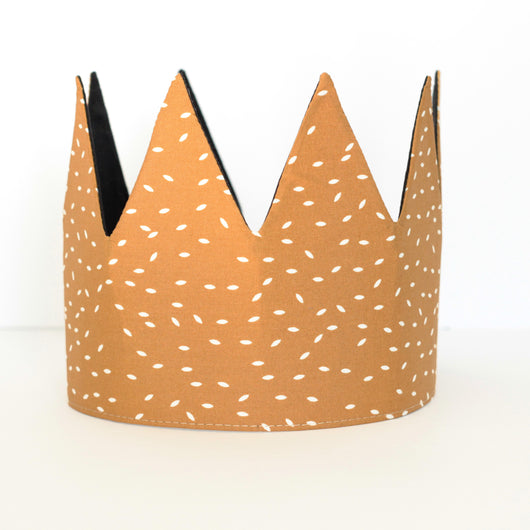 Fabric Crown - Gold Seed