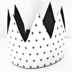 Dress-Up Playtime Fabric Crown - Monochrome