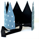 Fabric Crown - Blue