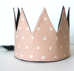 Dress-Up Playtime Fabric Crown - Pink