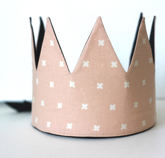 Fabric Crown - Pink