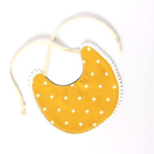 Reversible Bib - Yellow and Navy