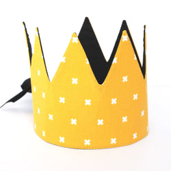 Fabric Crown - Yellow