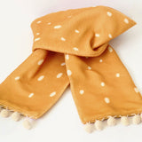 Deer fleece scarf