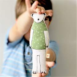 Printed Bear Doll