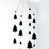 Black tree woodland baby Mobile