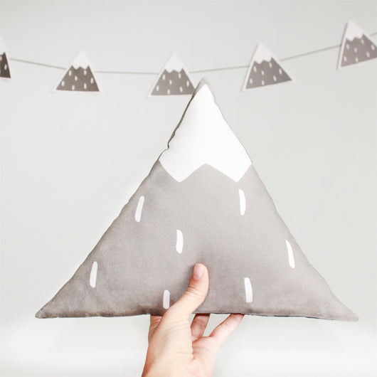 Grey Mountain Pillow