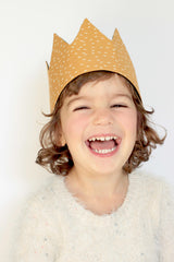 Dress-Up Playtime Fabric Crown - Gold Seed