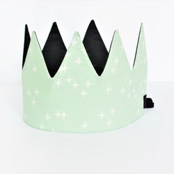 Dress-Up Playtime Fabric Crown - Mint