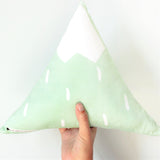 Mint mountain pillow