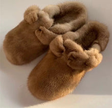 Genuine Mink Closed Toe Shoes