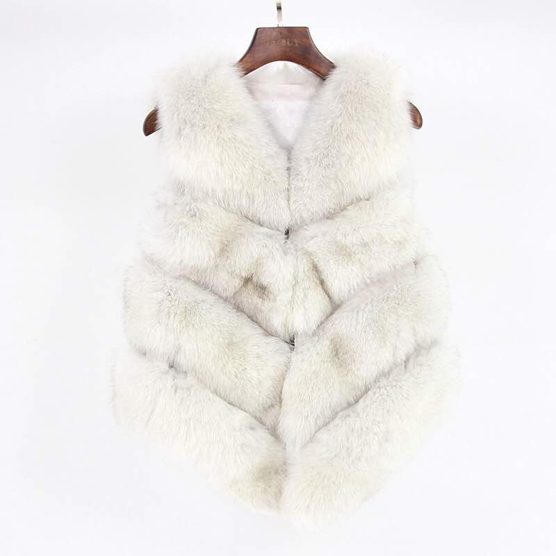 Fox Fur Vest in White