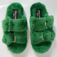 Women's and Men's Genuine Mink Shoes / Slides *Spring Colors*