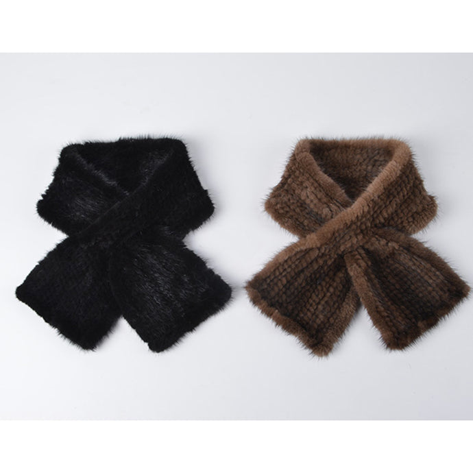 Genuine Mink Fur Scarf