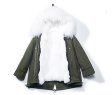 Children's Fur Lined Green Parka